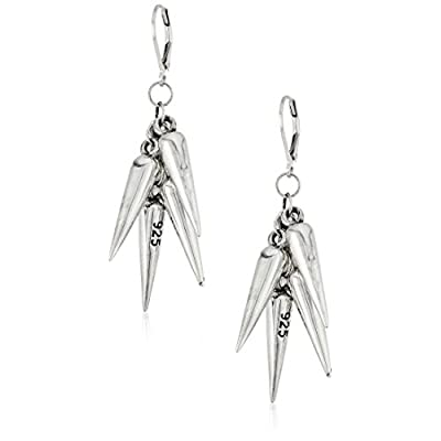 Cheap King Baby Studio Womens Multi Spike Lever Back Earrings free shipping