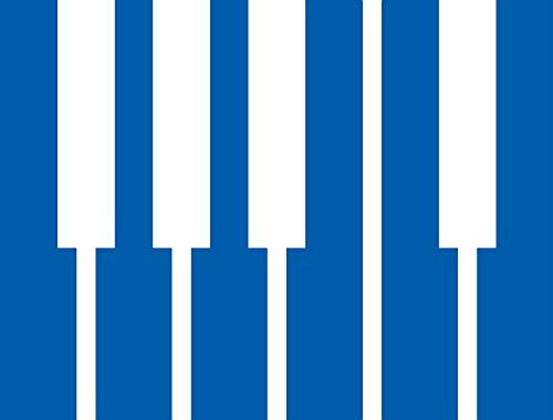 - Piano Keys Icon Symbol (Azure Blue) (Set of 2) Premium Waterproof Vinyl Decal Stickers for Laptop Phone Accessory Helmet Car Window Bumper Mug Tuber Cup Door Wall Decoration