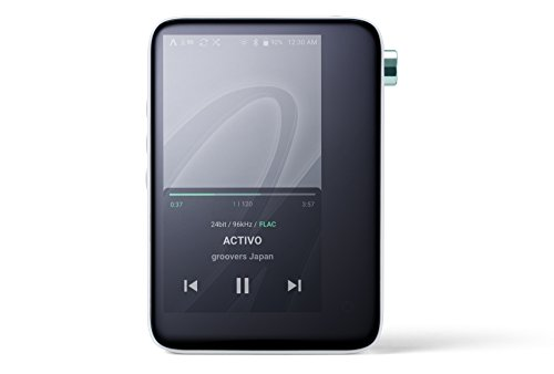 ACTIVO CT10 High Resolution Portable Music Player: Small, Stylish Design, MP3/Lossless Formats, Wi-Fi, Music Streaming Apps, 10 Hours of Playback (Cool White)