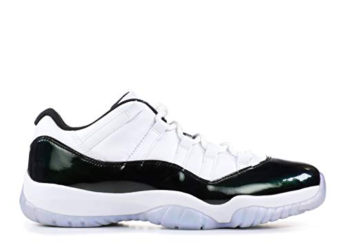 Pictures of Jordan Air 11 Retro Low Men's Variation White/Emerald Rise/Black 4