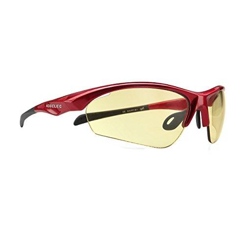 ICECUBE Asian Fit Photochromic Sports Sunglasses   Men or Women  UV Protection   TR90 Ultra Light   Suitable for Running, Driving, Beach, Fishing - MATZKA (RED, Day - Asian Glasses Men