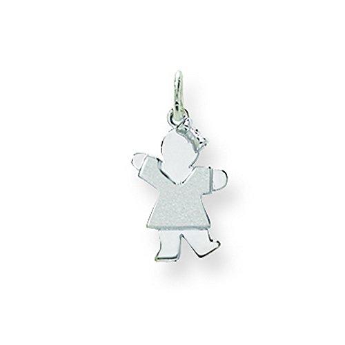 14k White Gold Mini Girl Charm by Shop4Silver