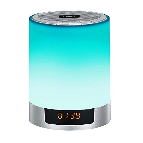 GQNLY Despertador Creativo con Altavoz inalámbrico, luz de ...
