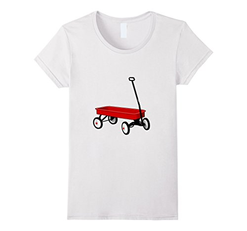 White Wagon Childs - Womens Classic Red Wagon t-shirt Vintage Retro Children's Wagon Medium White