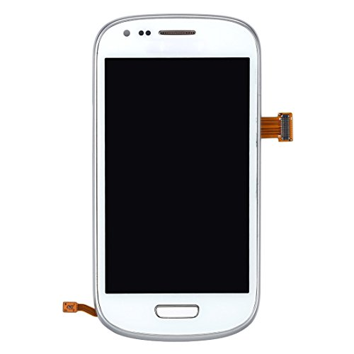 CAIFENG Repair Replacement Parts New LCD Display + Touch Panel with Frame for Samsung Galaxy SIII Mini / i8190(White) Phone Touch Screen (Color : White)
