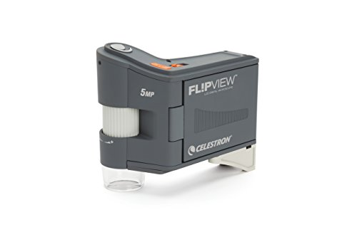 Celestron 44314 FlipView Handheld LCD Microscope (Grey) by Celestron