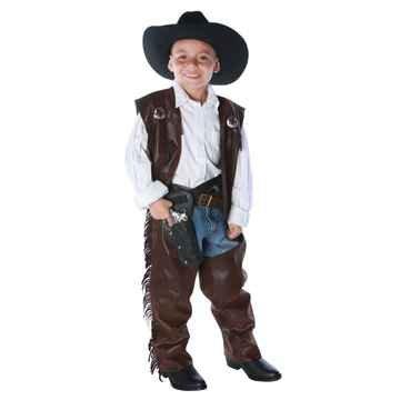 Underwraps Children's Cowboy Chaps Vest, Medium - Kid Cowboy Chaps