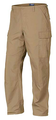 Regular Ripstop Bdu Pants - LA Police Gear Men Rip-Stop Mil-Spec BDU Button Fly Tactical Pant - Coyote Brown - Large/Regular