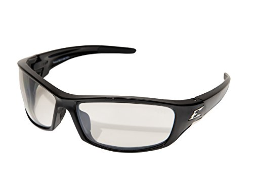 - Edge Eyewear SR111AR Reclus Safety Glasses, Black with Clear Anti Reflective Lens