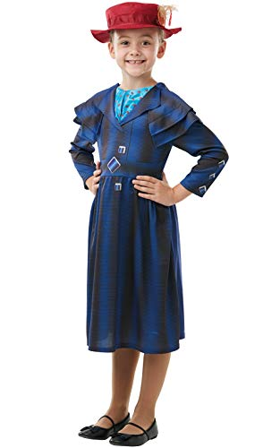 Rubie's Official Disney Mary Poppins Returns Movie Costume, Childs Book Week Character - Girls Size Medium Age 5-6 Years ()