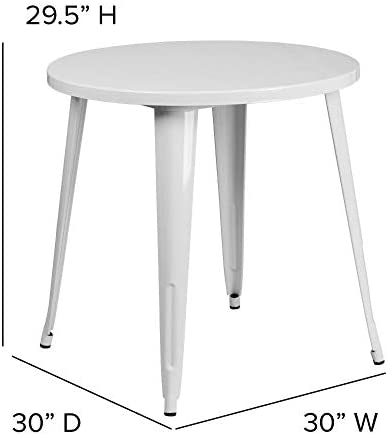 patio, lawn, garden, patio furniture, accessories, tables,  side tables 10 image Flash Furniture 30'' Round White Metal Indoor-Outdoor promotion