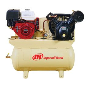 Ingersoll Rand 24 CFM at 175 PSI, 13 HP Horizontal Air Compressor with Alternator, Model Number 2475F13GH