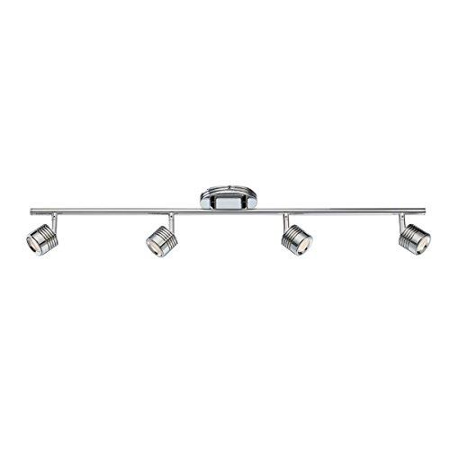 WAC Lighting TK-49534-CH Vector LED 4 Light Fixture Fixed Rail, One Size, Chrome
