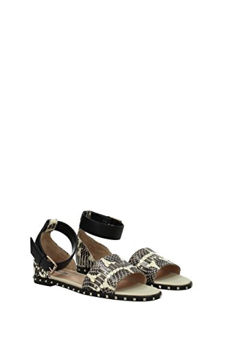 VALENTINO GARAVANI Sandals Women - Leather Snake (2S0B98BSK) UK Gray vYyGlPmmxW