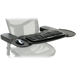 Mobo Chair Mount Ergo Keyboard and Mouse Tray System - 2.5-Inch x 12.5-Inch x 7.5-Inch - Black (Office Chair With Tray compare prices)