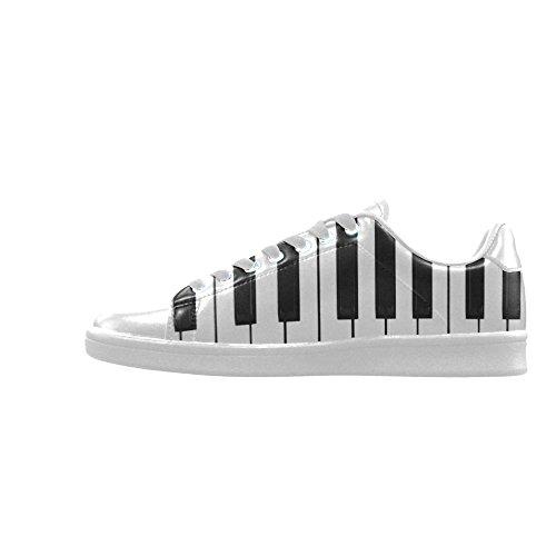 D-story Piano Keybord Actie Lederen Heren Lage Top Sneakers