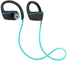 ZRSS Natación Impermeable Deportes Auricular Bluetooth Sobre El Oído Auriculares Inalámbricos para Deportes, Surf, Fitness, Running, Etc,Blue