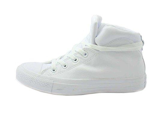 Converse Dame Chuck Taylor All Star Brookline Midten Sneaker Hvid / Hvid / Hvid tmzc6
