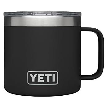 YETI Rambler 14 oz Stainless Steel Vacuum Insulated Mug with Lid, Black