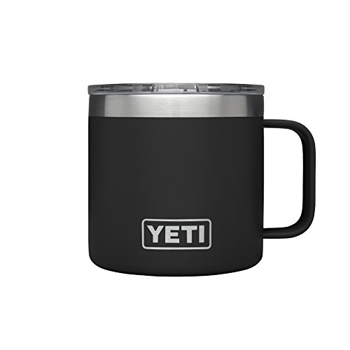 YETI Rambler 14 oz Stainless Steel Vacuum Insulated Mug with Lid, Black]()