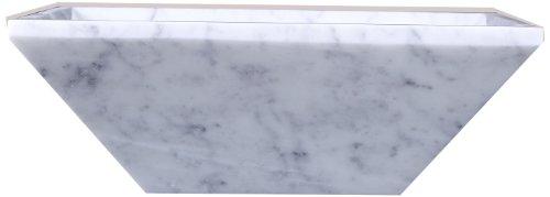 Virtu USA VST-2045-BAS Helios Vessel Sink with Natural Bianco Carrara Marble