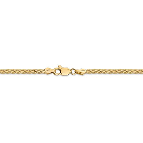 ICE CARATS 14k Yellow Gold 3mm Flat Link Wheat Bracelet Chain 7 Inch Fine Jewelry Ideal Mothers Day Gifts For Mom Women Gift Set From Heart by ICE CARATS (Image #6)