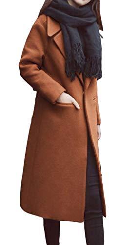 577e4d9574325 Gergeousレディース ロングコート 無地 チェスターコート 一つボタン ゆったり ラシャコート 秋 冬 防寒