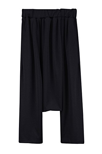 ByTheR Men's Solid Black Modern Classy Casual Outfit Wide Leg Real Baggy Pants (Classy Outfits For Men)