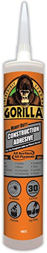Waterproof Purpose Wood Adhesive - Gorilla Heavy Duty Construction Adhesive, 9 ounce Cartridge, White