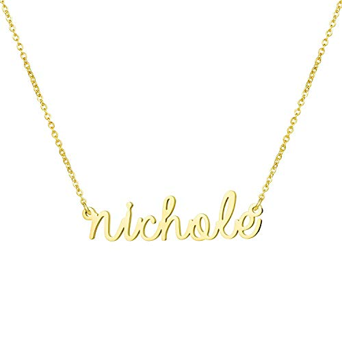 - Yiyang Christmas Necklaces for Woemn Personalized Name Necklace 14K Gold Plated Stainless Steel Graduation Jewelry for Girls Nichole