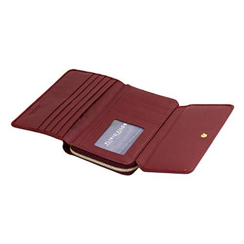 f6aa919b93bec Plinio Visona Italian Designer Marsala Red Leather Large Foldover Clutch  Wallet  Amazon.co.uk  Shoes   Bags