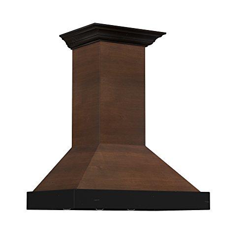 ZLINE 30 in. 760 CFM Designer Series Wooden Wall Mount Range Hood KBAR-30