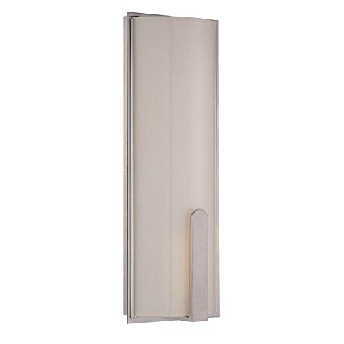 17 Inches, WAC Lighting WS-13217-27-BN DweLED Stella 17in LED Wall Sconce 2700K in Brushed Nickel Light Fixture