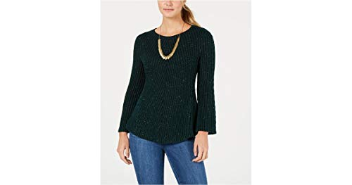 Style & Co. Petite Sparkle-Knit Ribbed Sweater