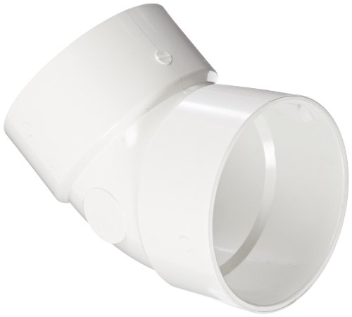 Spears P321 Series PVC DWV Pipe Fitting, 1/8 Bend, Elbow, 8