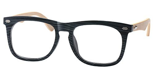 b0af5a0dee SOOLALA Cool Retro Style Quality Wood Bamboo Arm Custom Strengths Reading  Glasses