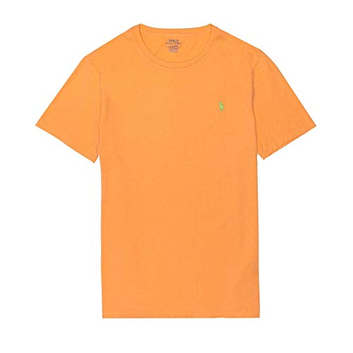 Polo Ralph Lauren Mens Cotton Crewneck Tee (Orange, ()