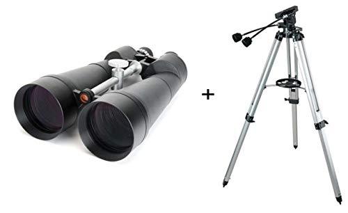 Celestron 25x100 Skymaster Giant Porro Prism Binoculars 71017 w/ Celestron Heavy Duty Alt-Azimuth (Astro Binoculars 25x100)