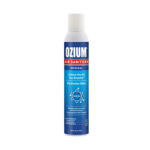 Ozium Air Sanitizer Reduces Airborne Bacteria Eliminates Smoke & Malodors 8oz Spray Air Freshener, Original