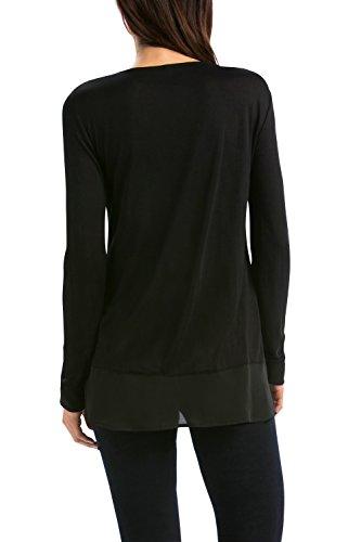 Desigual TS_ADONIA-Camiseta Mujer, Negro (Negro)