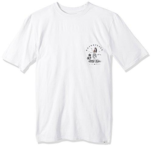 Quiksilver Men's Short Sleeve GMT Dye Curve Love, White, L by Quiksilver (Image #1)'