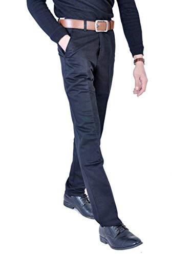 100 Color Negro Ocasionales Cómodo Traje Algodón Negocios Sólido Oficina De Rectos Battercake Delgado Moda Y Hombre Pantalones Largos Verano Igwn4AqF