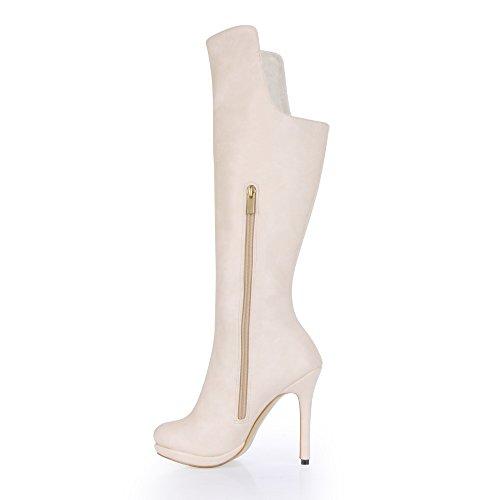 avvio donna M ufficio impermeabile ultra alto qualità bianco nuovo e popolare tacco bianco inverno Alta qU7Ow4g