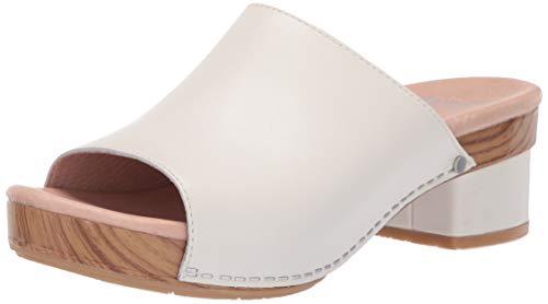 Dansko Women's Maci Slide Sandal Ivory Full Grain 41 M EU (10.5-11 US)