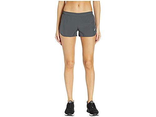 ASICS Silver Split Short, Dark Grey, Small (Womens Split Running Shorts)