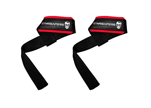 Gymreapers Lifting Wrist Straps for Weightlifting, Bodybuilding, Powerlifting, Strength Training, Deadlifts - Padded Neoprene with 18