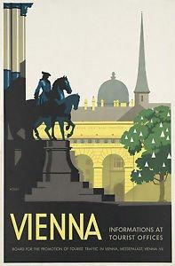 VIENNA, AUSTRIA - Vintage Art Deco Cartel De Viaje - A3 ...