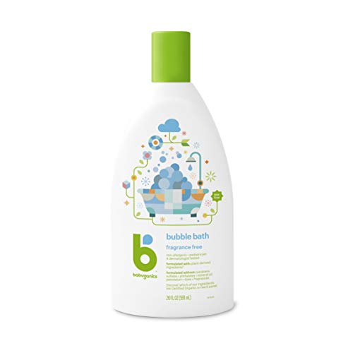 Bath Bubble Formula - Babyganics Baby Bubble Bath, Fragrance Free, 20oz Bottle, (Pack of 2)