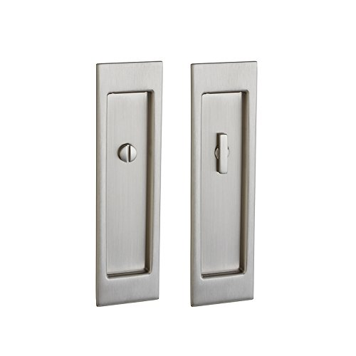 Baldwin PD005150FD Large Santa Monica Full Dummy Pocket Door - Satin Nickel