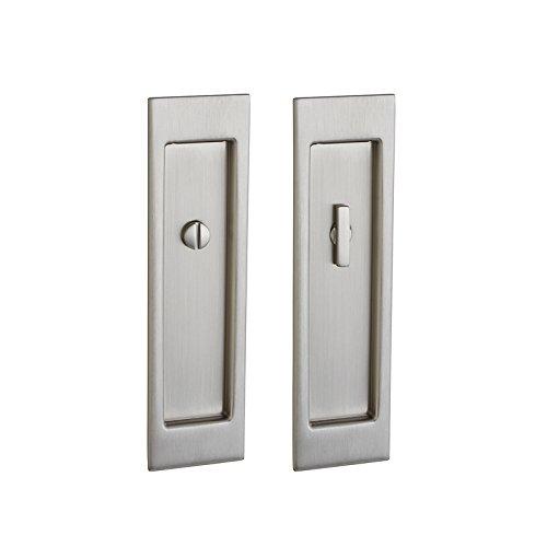 Baldwin PD005150FD Large Santa Monica Full Dummy Pocket Door - Satin Nickel by Baldwin (Image #1)
